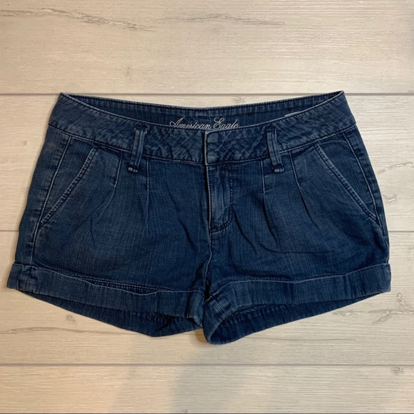 American Eagle Blue Jean Denim Shorts Size 2
